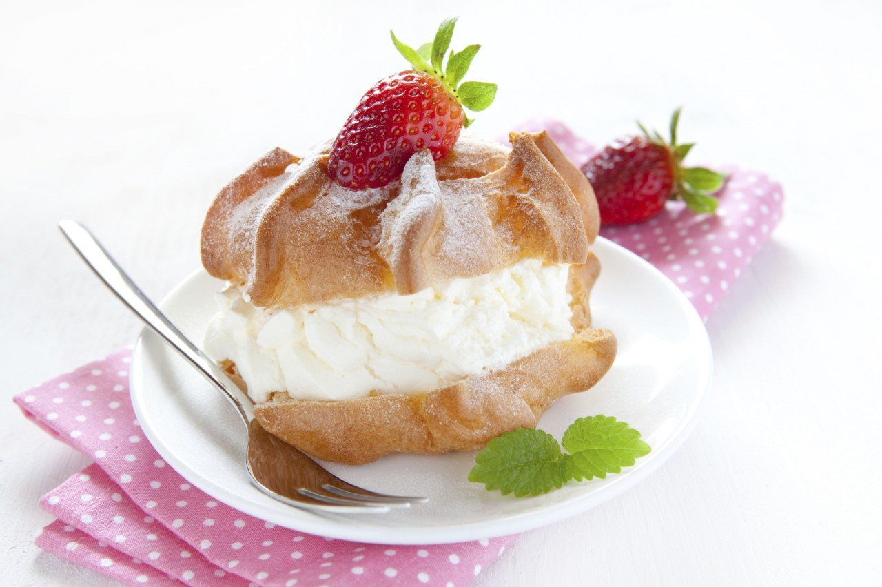 Gluten Free Valentine's Day Cream Puffs